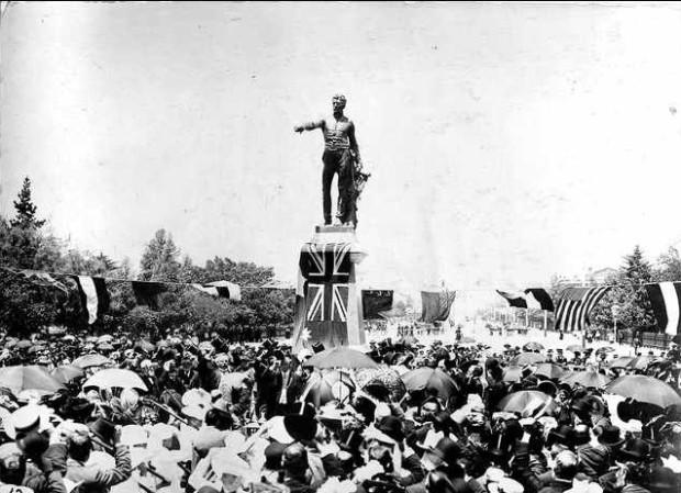 Colonel LIght unveiling Victoria Square